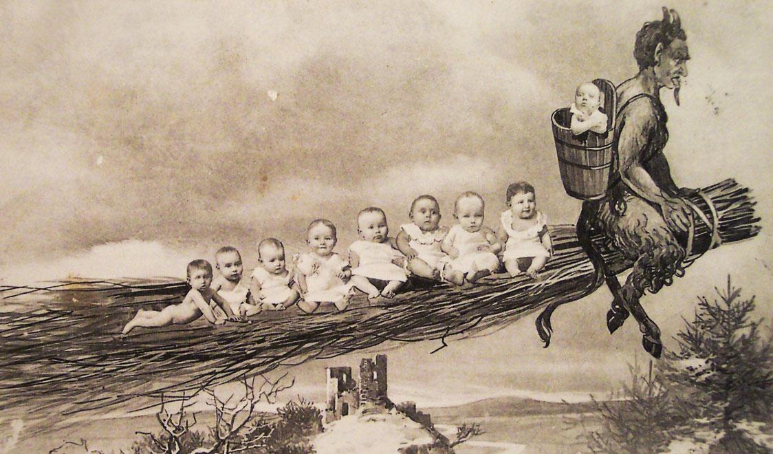 krampus-the-christmas-demon-history-on-broom-with-stolen-children