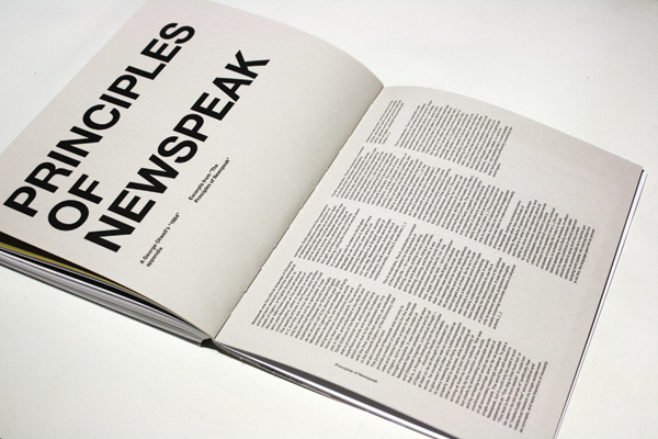 essay on newspeak in 1984